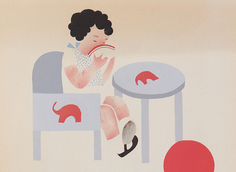 Belles illustrations  Petite-fille