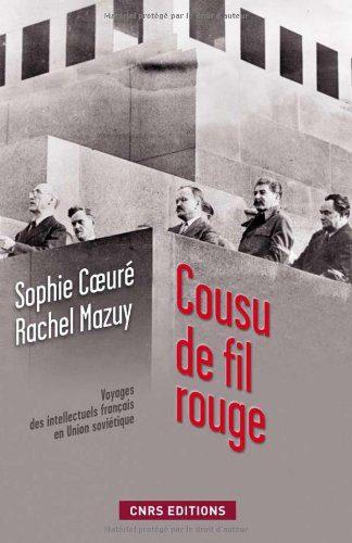 Reproduction de la première de couverture du livre de Sophie Coeuré, Cousu de fil rouge